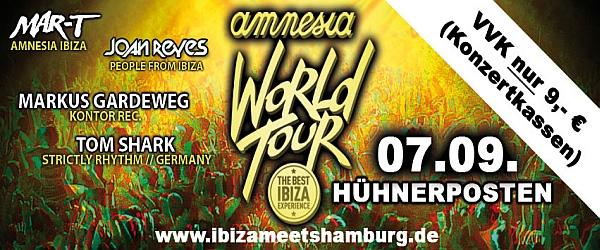 amnesia world tour h hnerposten hamburg. Black Bedroom Furniture Sets. Home Design Ideas
