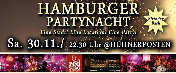 Hamburger Partynacht Birthday Bash Hühnerposten