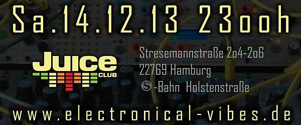 electronical vibes club Juice Club Hamburg