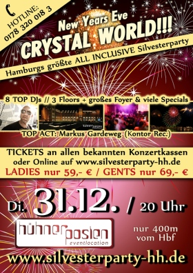 Silvester Crystal World Hühnerposten Hamburg