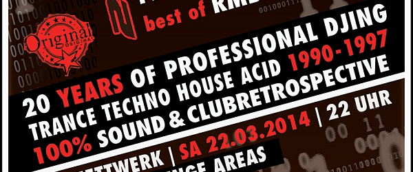 20 Years of professional DJing 2014 Edelfettwerk Hamburg