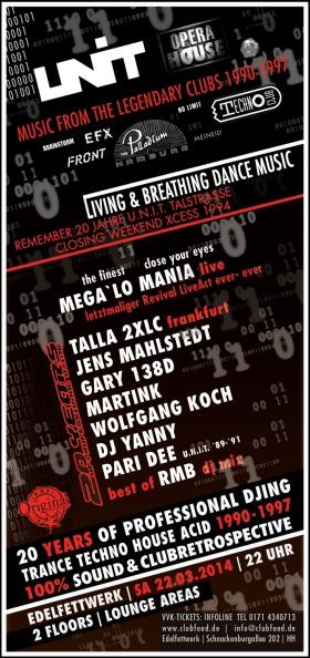 20 Years of professional DJing 2014 Edelfettwerk Hamburg