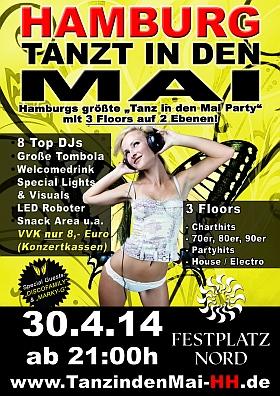 Hamburg tanzt in den Mai 2014 Festplatz Nord