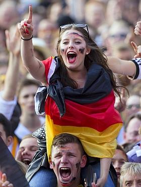 Deutschland USA Fan Fest Hamburg Heiligengeistfeld WM 2014