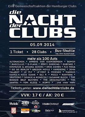 Die Nacht der Clubs 2014 Hamburg