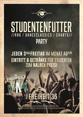 Studentenfutter Party Grosse Freiheit 36