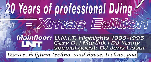 20 Years of professional DJing Xmas Edelfettwerk Hamburg 2014