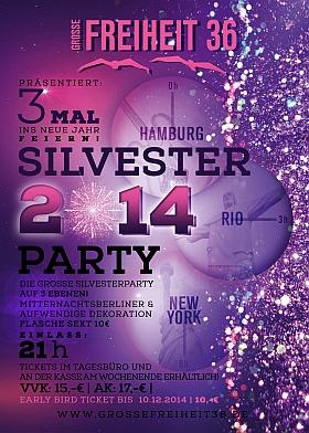Silvester Party 2014 Grosse Freiheit 36 Hamburg