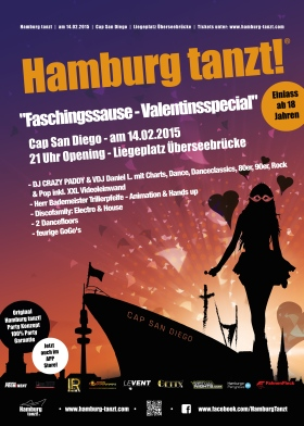 Hamburg tanzt Cap San Diego 2015