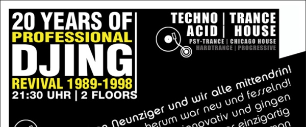 20 Years of professional DJing Edelfettwerk Hamburg 2015