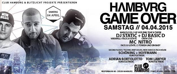 Game Over 2015 Club Hamburg