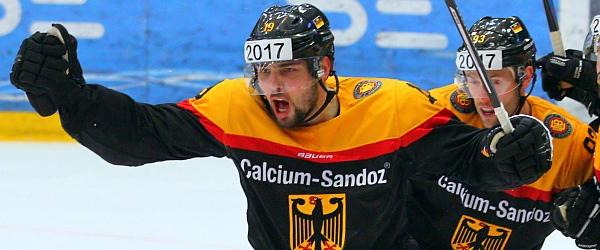 Deutschland Dänemark Eishockey Länderspiel Vojens 2015
