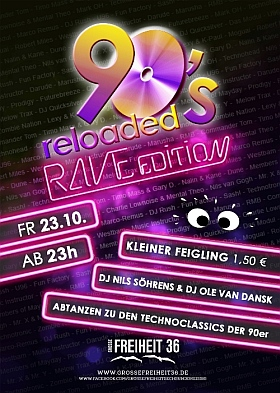 90s Reloaded Rave Edition 2015 Grosse Freiheit 36 Hamburg