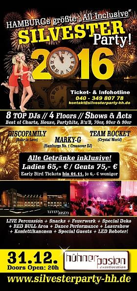 Silvester Party 2016 Hühnerposten Hamburg