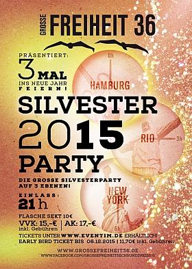 Silvester 2015 Party Grosse Freiheit 36 Hamburg