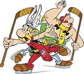 Asterix Obelix Maskottchen Eishockey WM 2017 Deutschland Frankreich