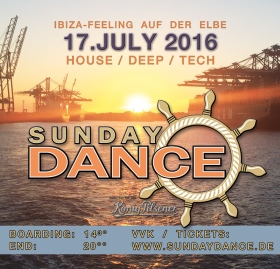 SunDay Dance Bootsparty Hafen Hamburg Elbe 2016