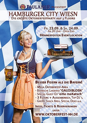 Hamburger City Wiesn 2016 Oktoberfest Party Hühnerposten Hamburg