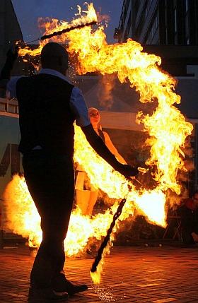 STAMP Festival 2017 Hamburg Altona Parade Feuershow