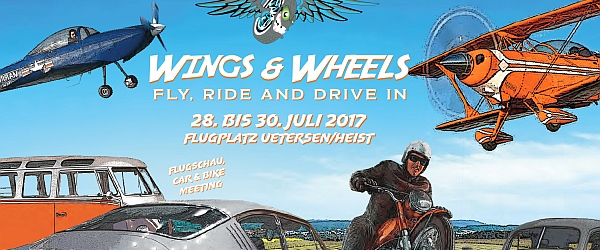 Wings and Wheels Festival 2017 Flugplatz Uetersen Heist