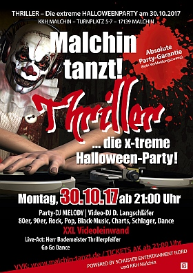 Malchin tanzt 2017 Thriller Halloween Party KKH