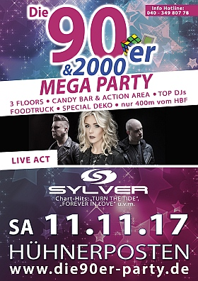 90er 2000er Mega Party Huehnerposten Hamburg 2017 Sylver