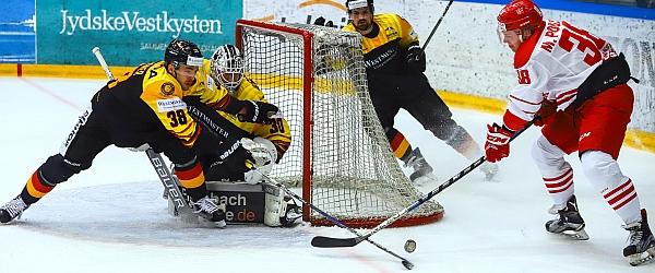 Dänemark Deutschland Eishockey Länderspiel Vojens 2018