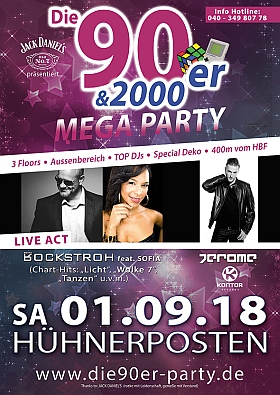 90er 2000er Mega Party Huehnerposten Hamburg 2018