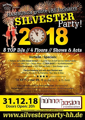 Silvester Party 2018 2019 Huehnerposten Hamburg