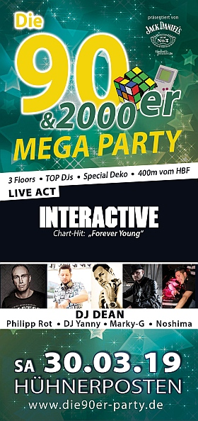 90er 2000er Mega Party Interactive Dean Yanny Huehnerposten Hamburg 2019